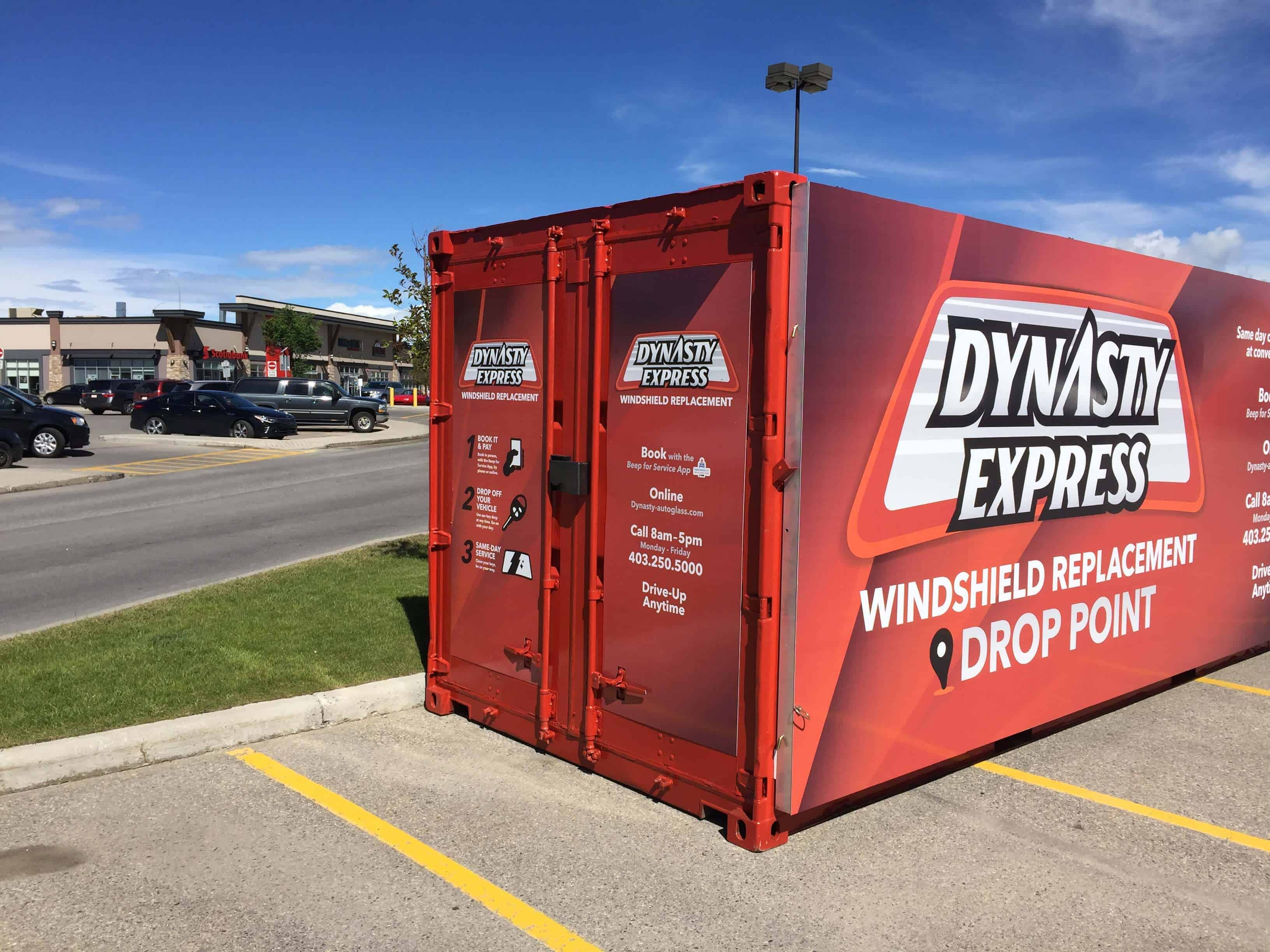 dynasty express satellite drop off point